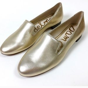 🎉SAM EDELMAN JORDY GOLD LEATHER FLATS 8.5